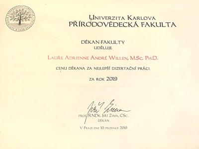 Cena děkana - Laura Willen