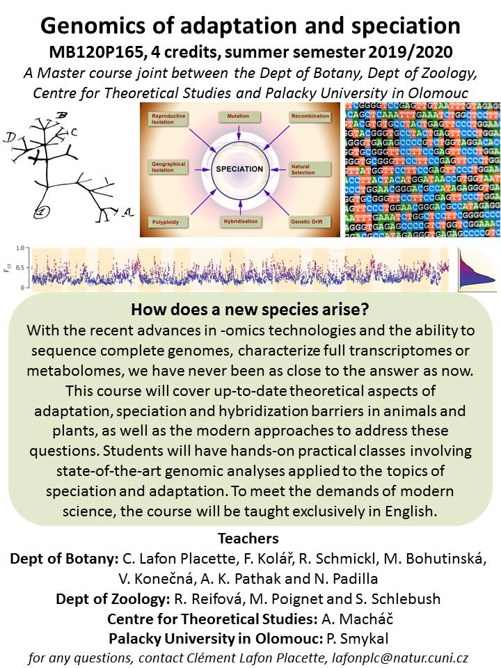 New Master course for this summer semester: Genomics of adaptation and speciation!