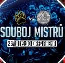 Hokejový zápas: Masaryčka vs. Karlovka v DRFG Areně