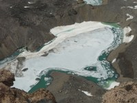Jezero Omega 1, z kterého bylo izolováno Monoraphidium.