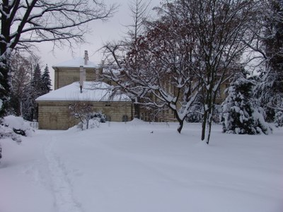 budova zima