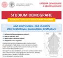 Navazující dvouletý magisterský program DEMOGRAFIE otevřen i pro studenty z jiných VŠ