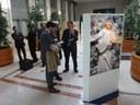 Eurokomisař László Andor navštívil výstavu pořádanou v sídle Evropské komise (Brusel, 19. března 2014)