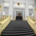 3D model interiéru přízemí budovy Přírodovědecké fakulty