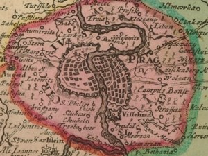 Praha na Vogtově mapě