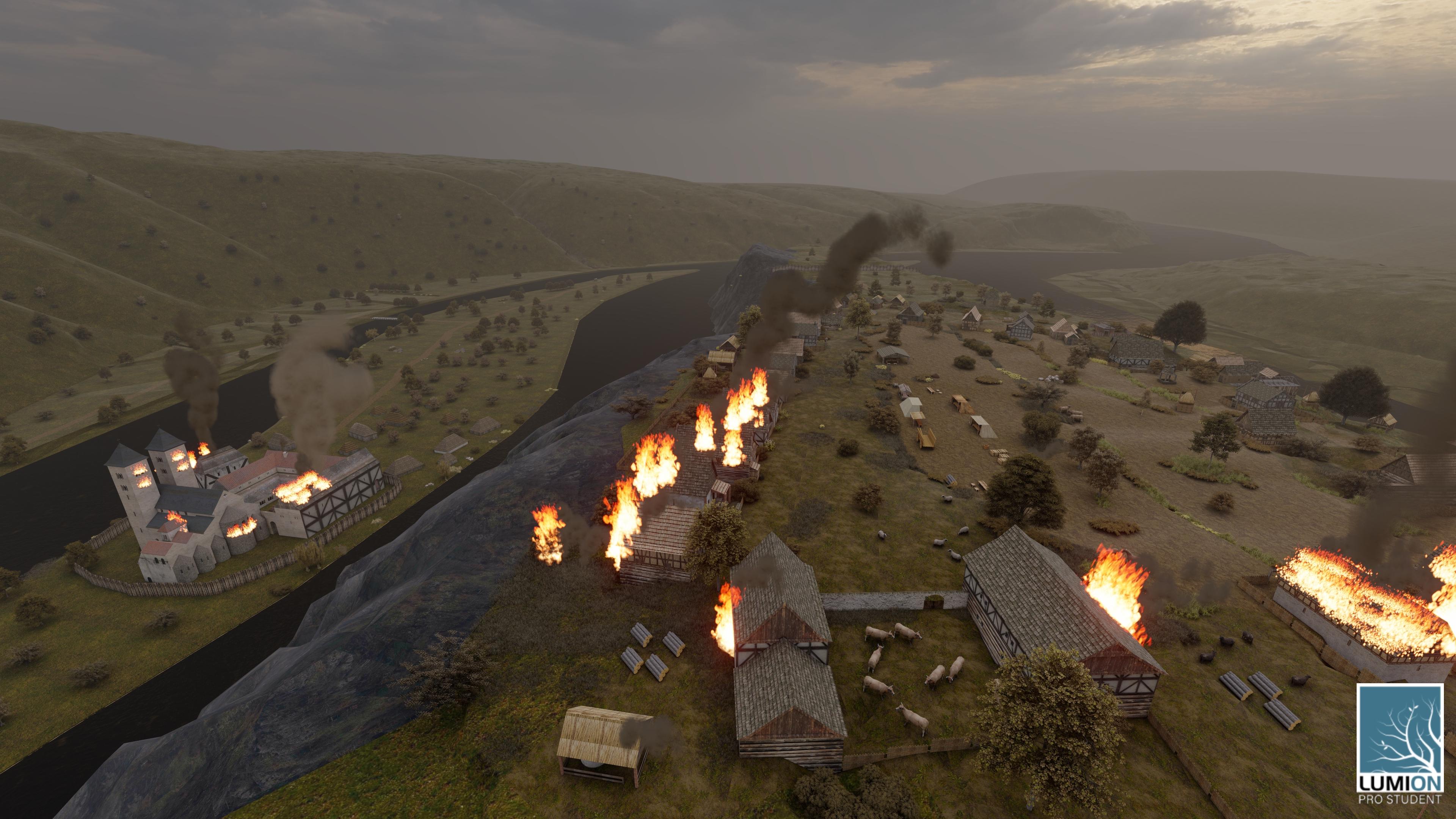 Obrázek 6: Drancování Braniborů okolo Davle v roce 1278