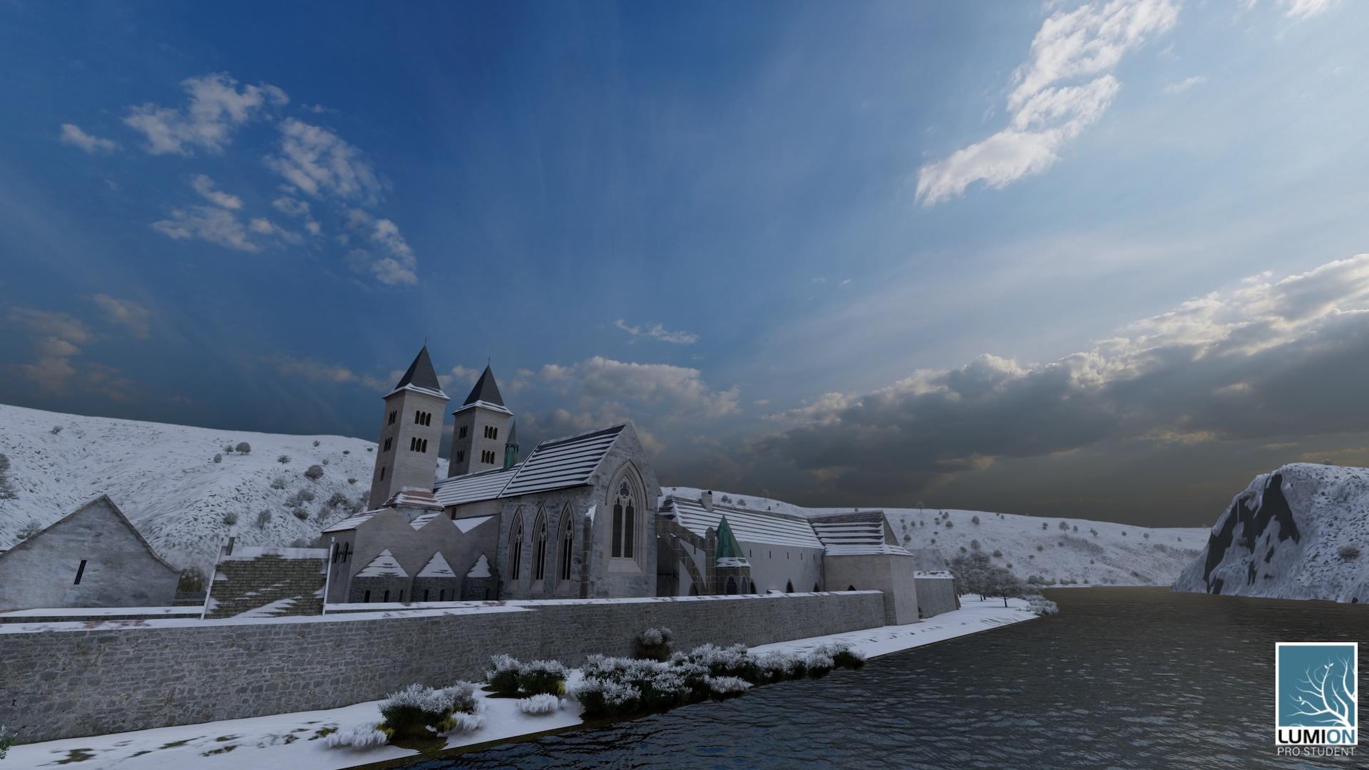 Obrázek 7: Zima u Davle ve 14. století