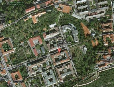 Geografická knihovna na mapě.