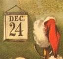 Santa Claus plánuje své cesty na pohlednicích z New York Public Library