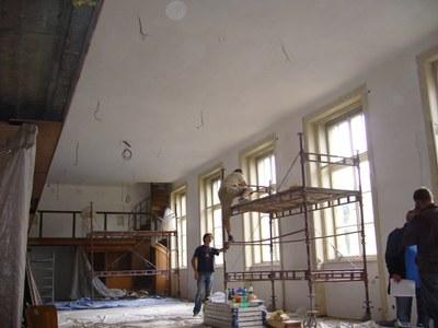 Rekonstrukce: malířské práce, září 2011
