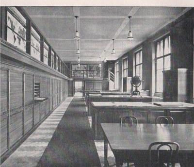 Původní stav Mapové sbírky v roce 1931