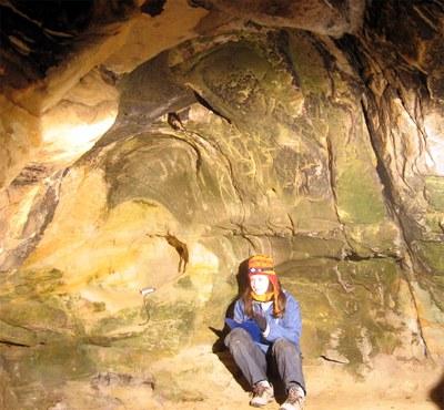Jedna ze studovaných jeskyní v pískovcích