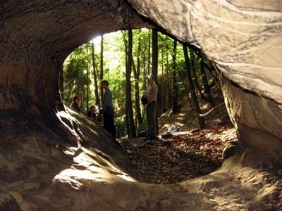 Jeskyně v Klokočských skalách